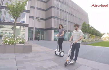 Airwheel S3 two wheel scooter and Z3 folding electric scooter